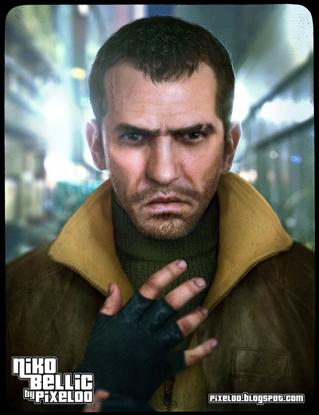 Pixeloo-Niko_Bellic_GTA_IV